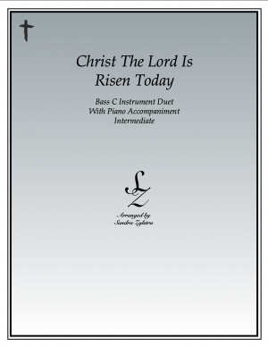 Christ The Lord Is Risen Today -Bass C Instrument Duet & Piano Accompaniment