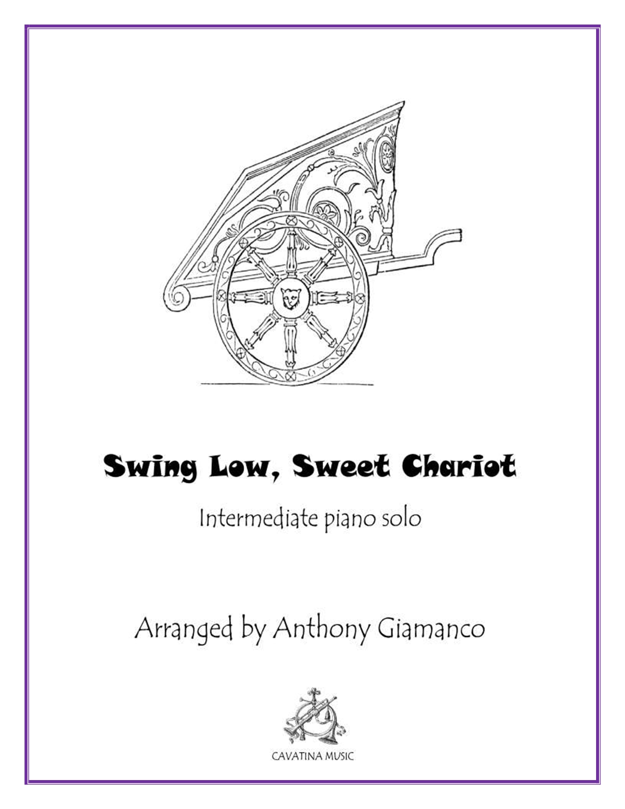 SWING LOW, SWEET CHARIOT - piano solo
