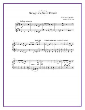 SWING LOW, SWEET CHARIOT – piano solo
