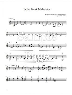 In the Bleak Midwinter – Unaccompanied Violin Solo