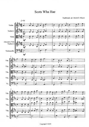Scots Wha Hae – String Quartet