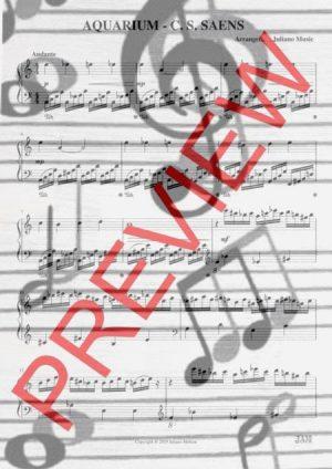 AQUARIUM (EASY PIANO – C VERSION) – C. S. SAENS