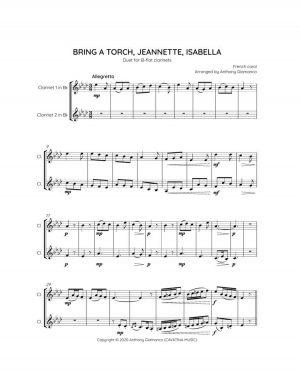 BRING A TORCH, JEANNETTE, ISABELLA – clarinet duet