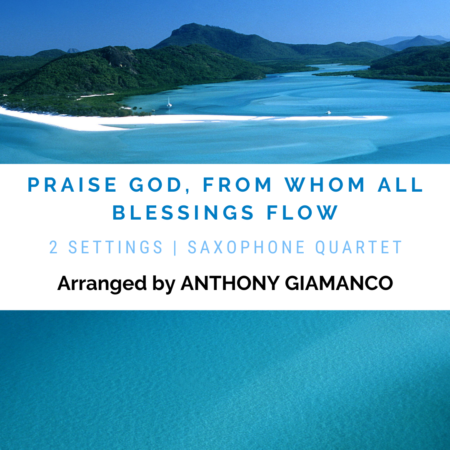 Praise God from Whom Al Blessings Flow - sax qu. (cover pg.)