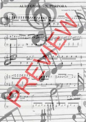 ALTO GIOVE (PIANO REDUCTION WITH LYRICS) – N. PORPORA