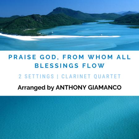 PRAISE-GOD-FROM-WHOM-ALL-BLESSINGS-FLOW - clar. quartet (cover pg.)