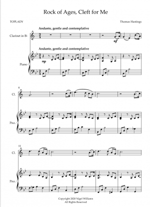Rock of Ages, Cleft for Me, for Clarinet and Piano