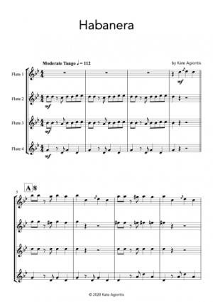 Habanera – for Flute Quartet