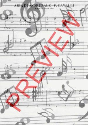 ARIA DI ASDRUBALE (PIANO REDUCTION WITH LYRICS) – F. CAVALLI