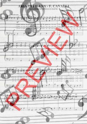 ARIA DI FILENA (PIANO REDUCTION WITH LYRICS) – F. CAVALLI
