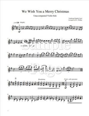 We Wish You a Merry Christmas – Unaccompanied Violin Solo