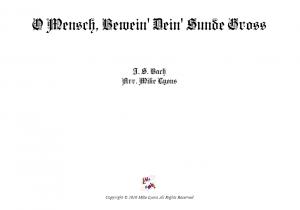 Clarinet Quintet – O Mensch Bewein Dein Sünde Gross (Chorale Prelude)