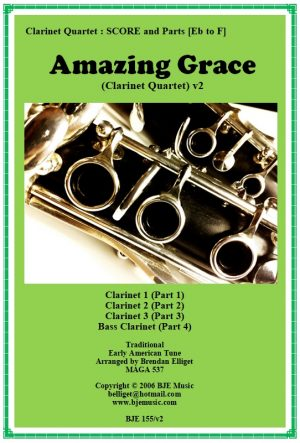 Amazing Grace – Clarinet Quartet