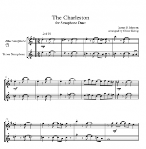The Charleston for 2 Saxophones (Alto and Tenor Saxophones)