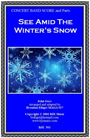 See Amid The Winter's Snow – Concert Band