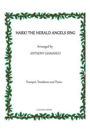 HARK! THE HERALD ANGELS SING – trumpet, trombone, piano