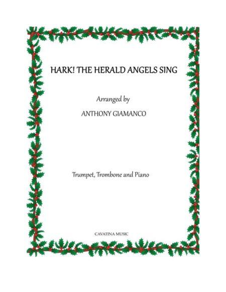 HARK THE HERALD - trpt., trmb., piano (cover pg.)