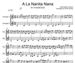 A La Nana Nanita Nana for 2 Trumpets