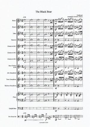The Black Bear – Woodwind Choir + Rhythm Section