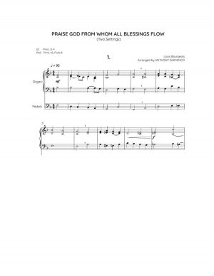PRAISE GOD, FROM WHOM ALL BLESSINGS FLOW – organ solo