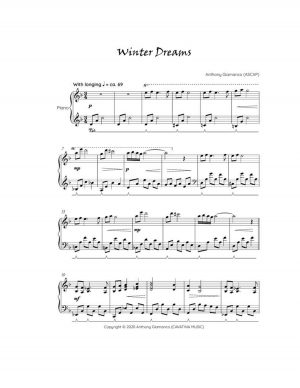 WINTER DREAMS – piano solo