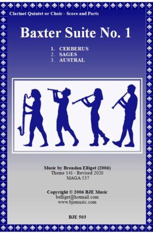Baxter Suite No. 1 – Clarinet Quintet or Choir