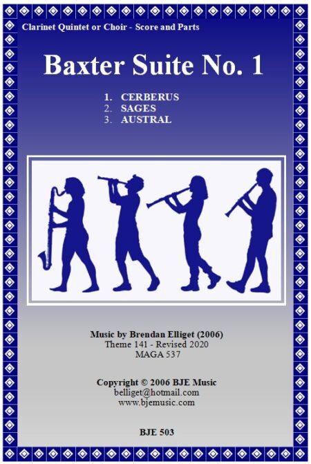 503 FC Baxter Suite No 1 Clarinet Quintet or Choir