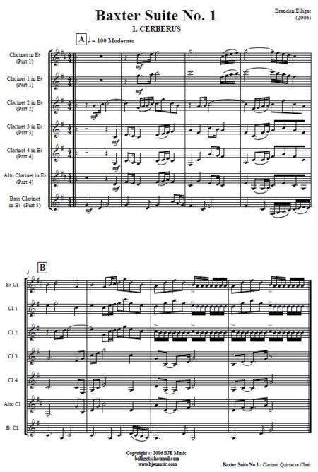 503 Baxter Suite No 1 Clarinet Quintet SAMPLE page 01