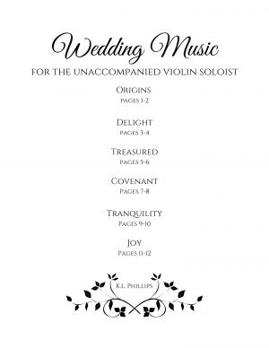 Wedding Music for the Unaccompanied Violin Soloist – Six Solos