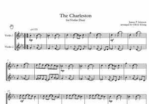 The Charleston for 2 Violins