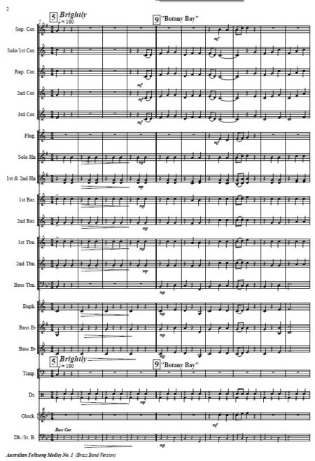 008 Australian Folksong Medley No 1 Brass Band SAMPLE page 002