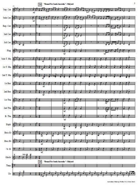 041 Australian Folksong Medley No 2 Brass Band SAMPLE page 003