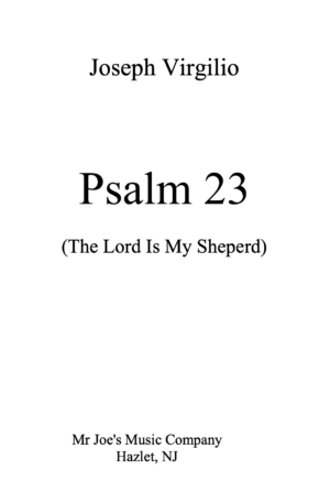 The Lord Is My Sheperd for high voice