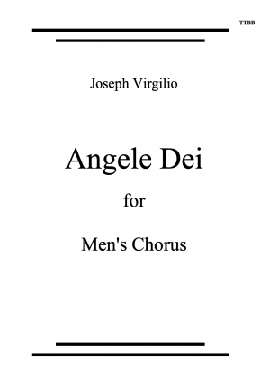 Angele Dei for Men's Voices TTBB