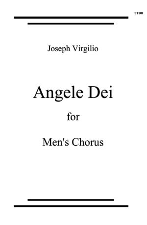 Angele Dei for Men's Voices TTBB