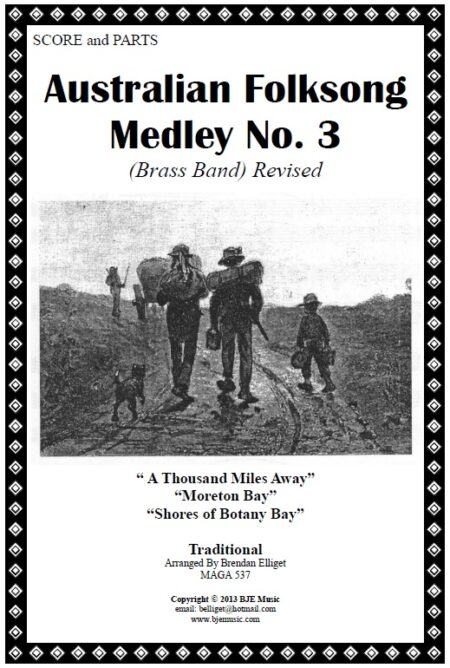 037b FC Australian Folksong Medley No 3 Brass Band Score and Parts