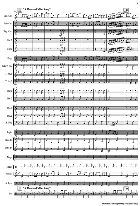 037 Australian Folksong Medley No 3 Brass Band SAMPLE page 003