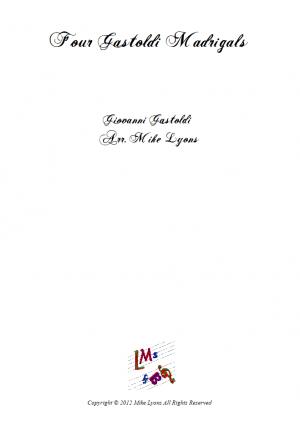 Brass Sextet – 4 Gastoldi Madrigals