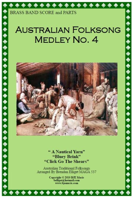 114 FC Australian Folksong Medley No 4 Brass Band Score and Parts PDF