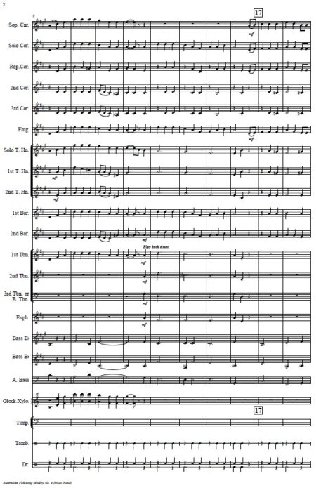 114 Australian Folksong Medley No 4 Brass Band SAMPLE page 002