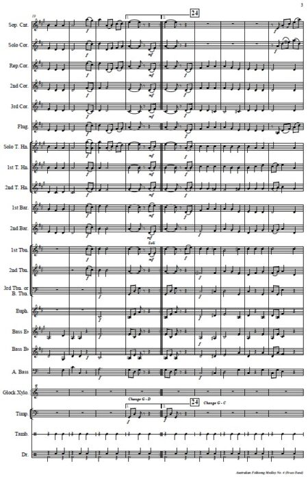114 Australian Folksong Medley No 4 Brass Band SAMPLE page 003