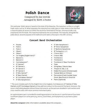 Polish Dance for Concert Band by Jan Sereski