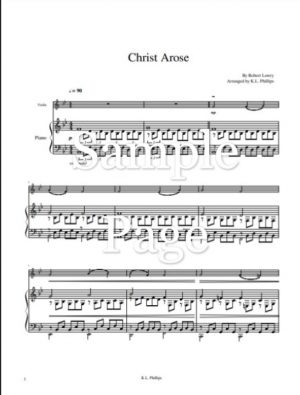 Christ Arose – Violin Solo with Piano Accompaniment