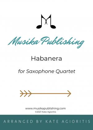 Habanera – for Saxophone Quartet