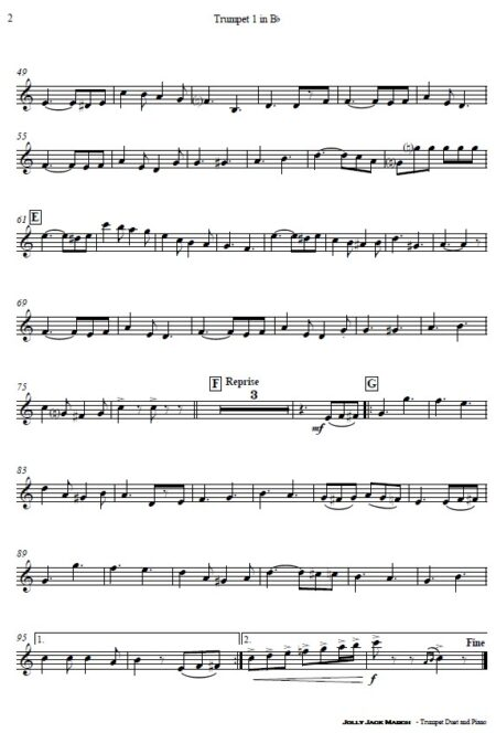 507 Jolly Jack March Trumpet Duet and Piano SAMPLE page 004