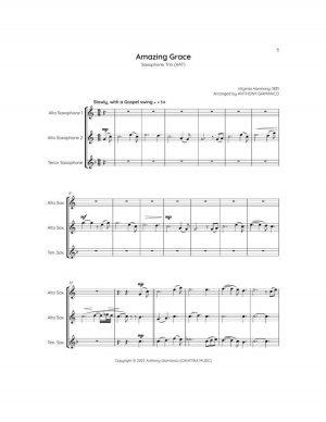 AMAZING GRACE – saxophone trio (AAT)