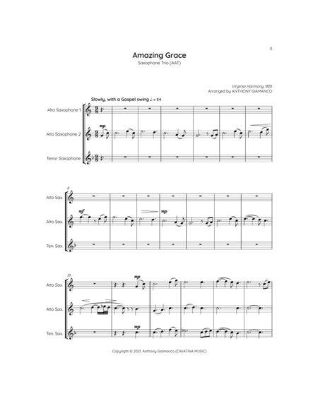 AMAZING GRACE sax trio