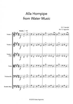 Alla Hornpipe – for String Orchestra