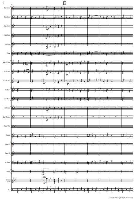 262 Australian Folksong No 6 Brass Band SAMPLE page 002