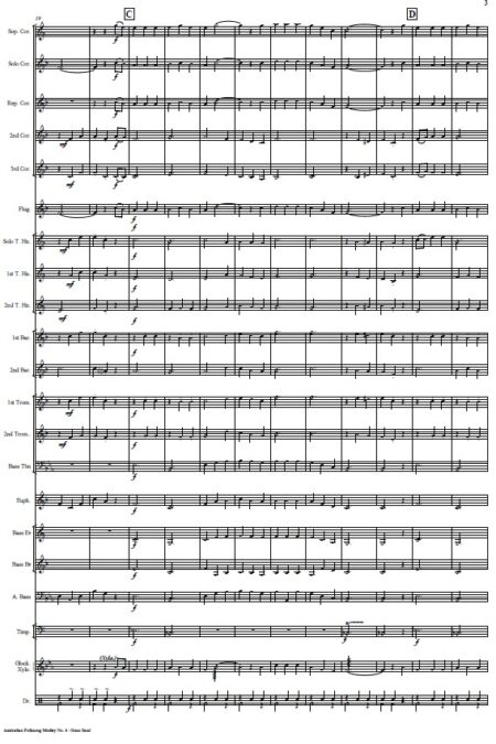262 Australian Folksong No 6 Brass Band SAMPLE page 003